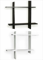 View The New Look PLUSBW MDF Wall Shelf(Number of Shelves - 4, Black, White) Furniture (The New Look)