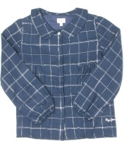 Pepe Jeans Girls Printed Casual Blue Shirt