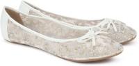 Carlton London CLL-3744 Ballerina For Women(White, Silver)