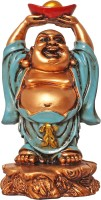 Art N Hub Fengshui God Laughing Buddha Vastu Idol - Handicraft Decorative Home Décor God Figurine / Statue Gift item Decorative Showpiece  -  12 cm(Earthenware, Multicolor)