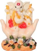Art N Hub Car Dashboard God Ganesh / Ganpati / Lord Ganesha Idol- Marble Look Handicraft Decorative Home & Table Décor God Showpiece Figurine / Statue Gift item Decorative Showpiece  -  8 cm(Earthenware, Red)