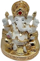 Art N Hub Car Dashboard God Ganesh / Ganpati / Lord Ganesha Idol- Handicraft Decorative Home & Table Décor God Showpiece Figurine / Statue Gift item Decorative Showpiece  -  8 cm(Earthenware, Gold)