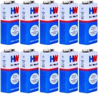 balrama 10pc 9 VOLTS BATTERY HI-WATT 100% Original 6F22 9V Long Life Carbon Zinc Batteries Camera Battery Pack(No)