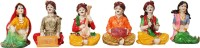Art N Hub Cultural Rajasthani Traditional Set of 6 Statue Décor Gift Item Showpiece  -  13 cm(Earthenware, Multicolor)