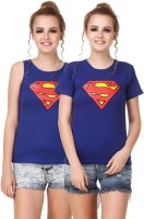 Himgiri Printed Women Round Neck Blue, Red, Yellow T-Shirt(Pack of 2)