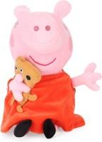 Peppa Pig with Bear Plush - 19 cm(Multicolor)