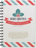 100yellow A5 Notebook(A5 Size Merry Christmas & Happy New Year Printed Wire Bound Spiral Book, Multicolor)