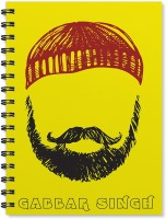 100yellow A5 Notebook(A5 Size Beard Printed Wire Bound Designer covers with Ruled sheets, Multicolor)