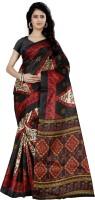 Wama Fashion Floral Print, Graphic Print Fashion Silk Saree(Red)