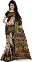 Wama Fashion Floral Print, Graphic Print Fashion Silk Saree(Green)
