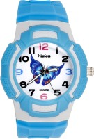 Vizion 8565AQ-5-1 The Blue Butterfly Analog Watch For Kids