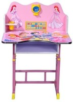 View kris toy Princess study table Solid Wood Study Table(Finish Color - Pink) Furniture (Kris toy)
