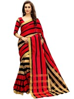 Glory Sarees Printed Chanderi Poly Chanderi Saree(Multicolor)