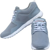 Gowin By Triumph Thrust Grey Running Shoes For Men(White, Grey)
