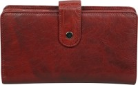 Style 98 Women Black, Red Genuine Leather Wallet(14 Card Slots)