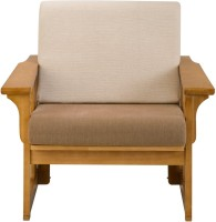 View Dovetail Mission Fabric 1 Seater(Finish Color - Teak) Furniture (Dovetail)
