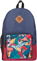 Chumbak Mosaic Bird Backpack(Dark Blue, 1)