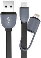 Voltegic � Dual Interface 2 in 1 Data Transmit Sync & Charge Cable(Black)