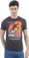 Pepe Jeans Printed Men's Round Neck Brown T-Shirt