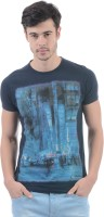 Pepe Jeans Printed Men's Round Neck Dark Blue T-Shirt