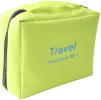 Italish Portable Cosmetic Makeup Pouch Travel Toiletry Zipper Storage Hanging Bag Travel Toiletry Kit(Green)