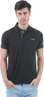 Pepe Jeans Solid Men's Polo Neck Black T-Shirt