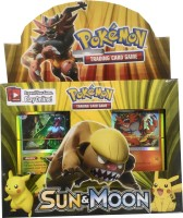 Emob Pokemon Sun & Moon Trading Card Game Set for Kids Board Game