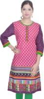 Shop Rajasthan Casual Printed Women's Kurti(Multicolor)