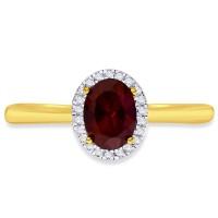 Karatcraft Sinita Halo Ruby 18kt Diamond Yellow Gold ring