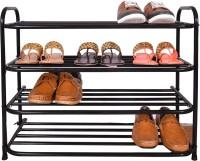 Benesta Metal Shoe Stand(Black, 4 Shelves)