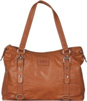 Faro Women Tan Genuine Leather Shoulder Bag