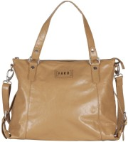 Faro Women Beige Genuine Leather Shoulder Bag