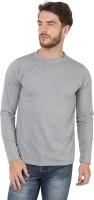 SayItLoud Solid Men's Round Neck Grey T-Shirt