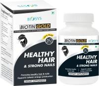 BIOSYS 100% Natural Biotin For Hair, Skin & Nails 5000 Mcg Capsules- Provides Healthy Hair and Strong Nails- A Combination Of Herbs, Vitamins, Amino Acids, Minerals And Trace Elements-Vitamin B7 for Hair, Skin & Nails(100 g)