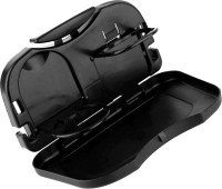 AdroitZ 8944079556219-Optimum Car Back Seat Food Travel Tray / Folding Dinning Table Drink Cup Holder ForDatsun go Cup Holder Car Tray Table