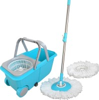 wcse Twin Bucket Spin with trolley Wet & Dry Mop(Blue)