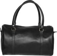 R Stylist Genuine Leather Small Travel 22 Inch/56 Cm Duffel Bag Travel Duffel Bag(Black)