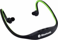 View Technuv Sports Wireless Headset with Mic(Green, Black, On the Ear) Laptop Accessories Price Online(Technuv)