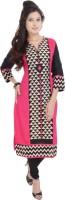 Shopping Rajasthan Casual Printed Women's Kurti(Pink)