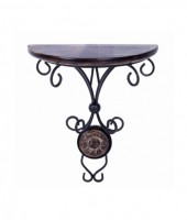 View Simran Handicrafts Iron, Wooden Wall Shelf(Number of Shelves - 1, Black) Furniture (Simran Handicrafts)