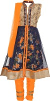 Aarika Girls Festive & Party Kurta and Churidar Set(Orange Pack of 1)