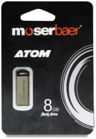 Moserbaer ATOM Combo 8 GB Pen Drive(Silver)