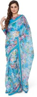 Divastri Embellished Fashion Net Saree(Multicolor)