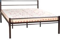 View Delite Kom Oris Metal Queen Bed(Finish Color -  Coffee Brown) Furniture (Delite Kom)