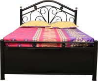 View Diamond Interiors Metal Single Bed With Storage(Finish Color -  Black) Furniture (Diamond Interiors)