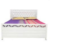 View Diamond Interiors Metal Queen Bed With Storage(Finish Color -  Ivory) Furniture (Diamond Interiors)