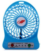 View Megalite 230 interntaional standard 18650 capacity black mini 4 Blade Table Fan(blue) Home Appliances Price Online(Megalite)