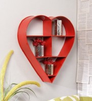 View Qesyas Iron Wall Shelf(Number of Shelves - 1, Red) Furniture (Qesyas)