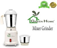 Green Home 2 STAINLESS STEEL JAR 450 Mixer Grinder(White, 2 Jars)