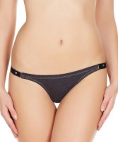 La Intimo Womens Thong Black Panty(Pack of 1) - Price 299 76 % Off